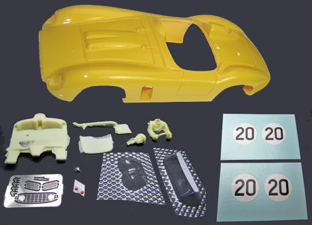 MMK 53pk-20 Ferrari TR500, #20 yellow, LeMans 1956, painted body kit