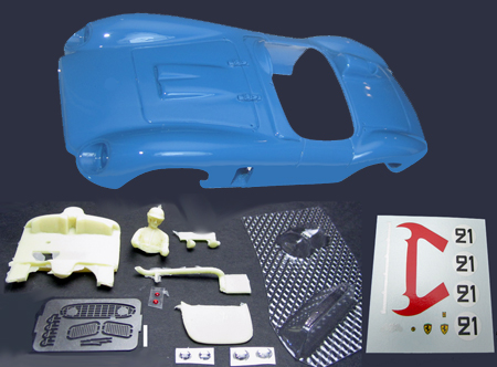 MMK 53pk-21 Ferrari TR500, #21 blue, LeMans 1956, painted body kit