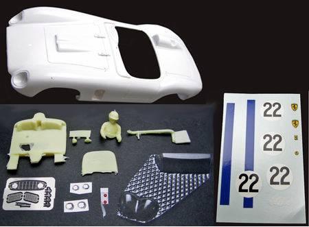 MMK 53pk-22 Ferrari TR500, #20 blue/white, LeMans 1956, painted body kit