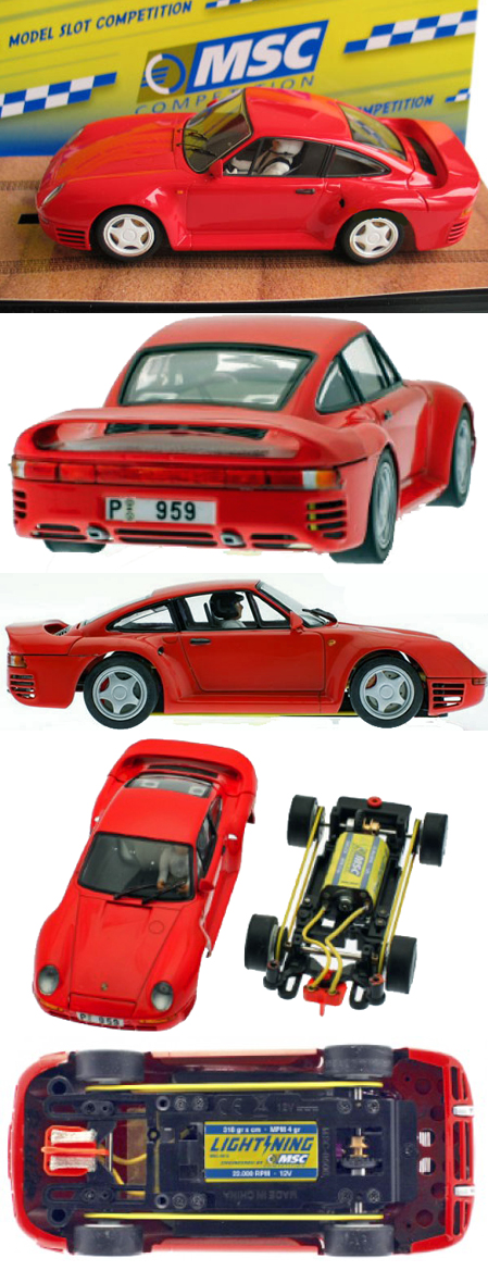 MSC 6019 Porsche 959 road car, red - $74.99