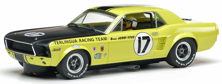Slelby Mustang TransAm car, Jerry Titus 1967 -- Pioneer P009