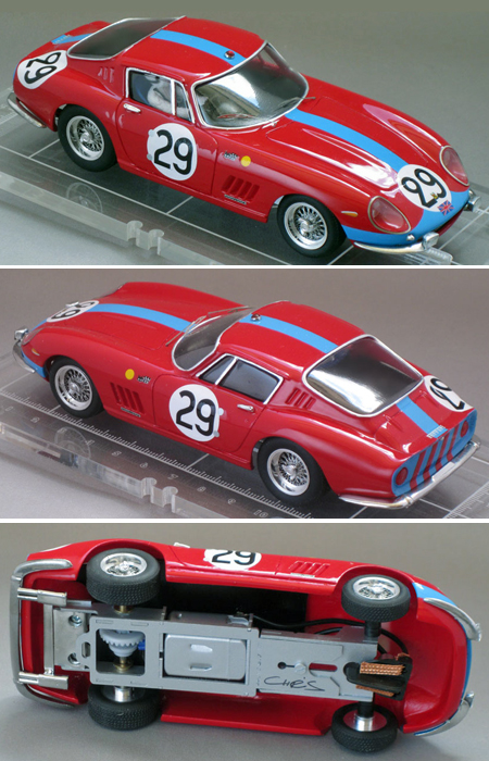 PSK 003-1-RTR Ferrari 275GTB, red, LeMans 1966
