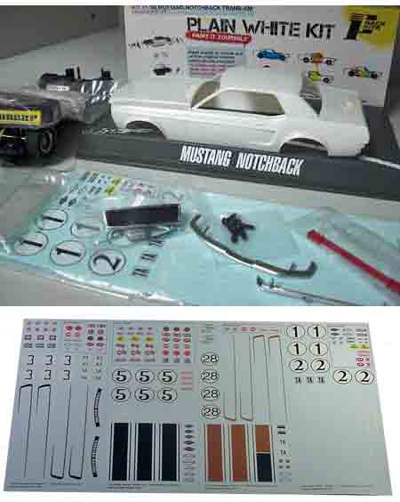 Pioneer PWK1 1968 Mustang plain white kit. Preorder now!