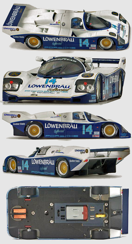 Slot It SICA25B Porsche 962 Lowenbrau, Al Holbert