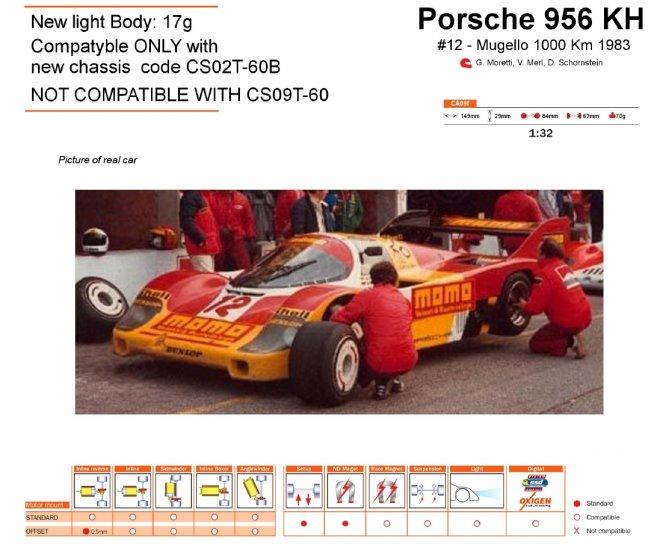 Slot.it SICA09F Porsche 956 KH MOMO [SICA09F]