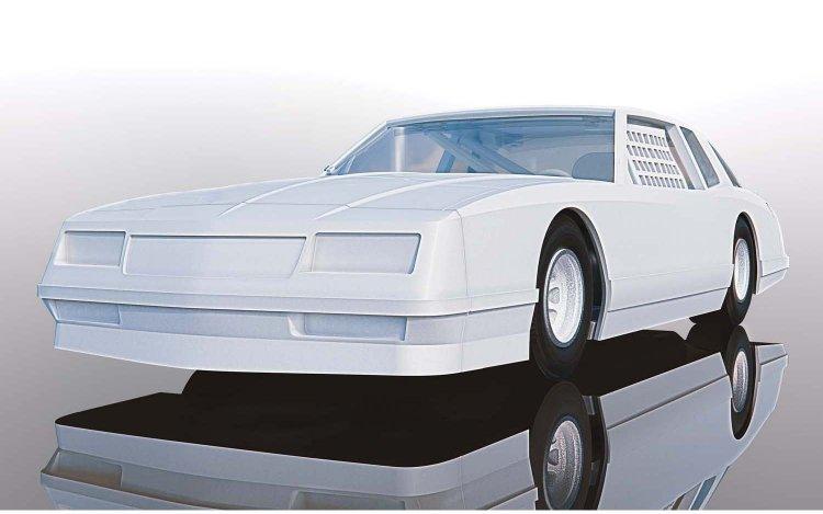 Scalextric C4072 Chevrolet Monte Carlo 1986 - White [C4072