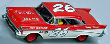 Carrera 27376 '57 Chevy race car, red/white (C)