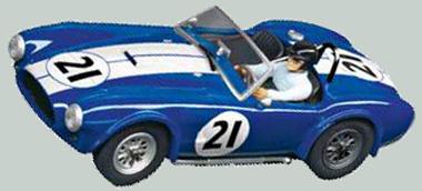 Carrera 30651 Cobra roadster, blue #21, Digital 132