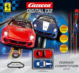 Carrera 30147 Ferrari competition race set, Digital 132 - $333.39