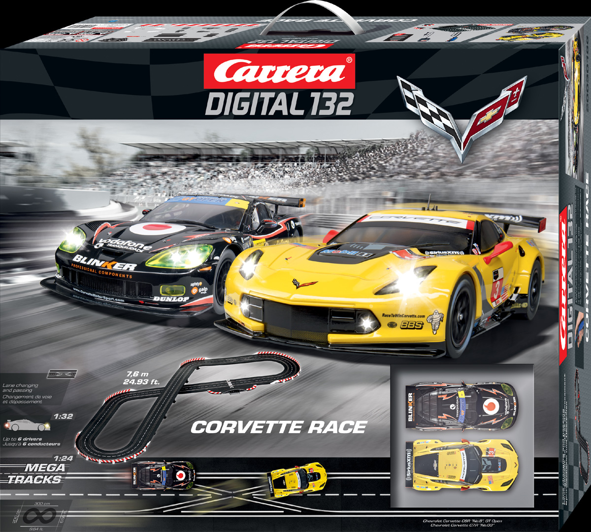 Carrera 30186 Corvette Race Set Digital 132 [30186]