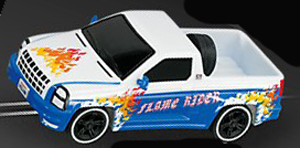 Carrera 61187 GO! Pickup truck Flame Rider, 1/43 scale