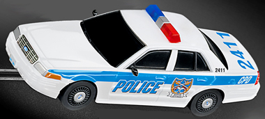Carrera 61247 GO! police car, 1/43 scale
