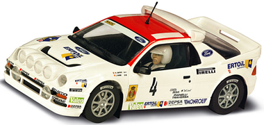 Scalextric C3305 Ford RS200, white #4,1986