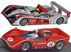 EDSET-28 McLaren M6B & Avant Slot Audi R10 2-car pack - $109.98 value!