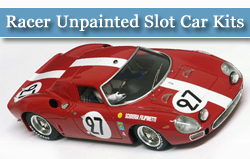 Racer Unpainted Slot Car Kits