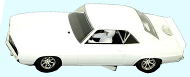 Scalextric C2451 1969 Camaro TransAm car, white
