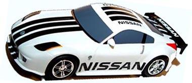 Scalextric C2736 Nissan 350z Drift Race Car White C