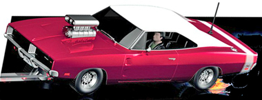 Scalextric C3317 Dodge Charger R/T w/supercharger