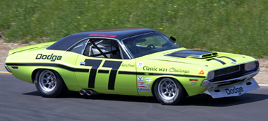 Scalextric C3419 1970 Dodge Challenger, Sam Posey, 1970 TransAm Series.