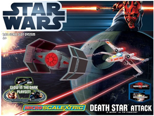 Scalextric G1084T Micro Star Wars Death Star Attack race set, 1/64 scale