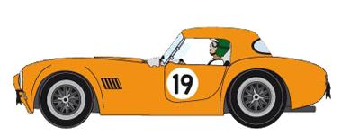 MRRC MC12005 Cobra roadster w/hardtop, #19 yellow