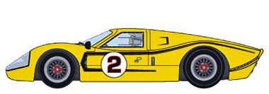 MRRC MC12007 Ford MkIV, #2 yellow, 1967