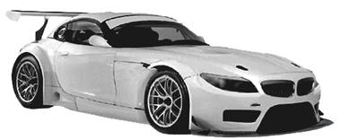 Scale Auto SC7031 BMW Z4 GT3 white kit, 1/24 scale [SC7031 ...
