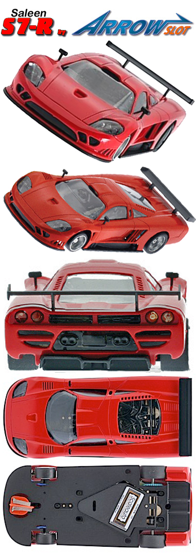 Arrow Slot 1001B Saleen S7R kit, red