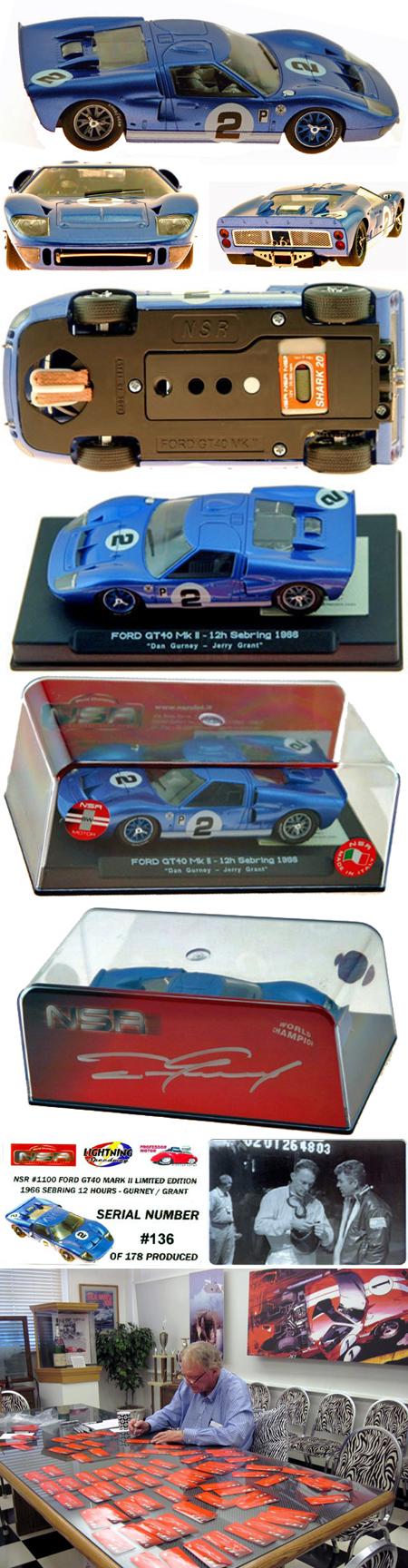 NSR 1100 Ford MkII, blue #2 Sebring 1966