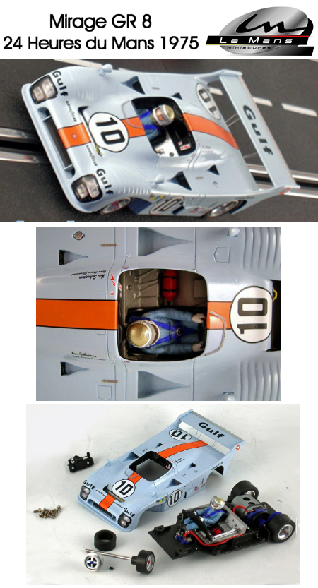 LeMans Miniatures 132045/10M Mirage GR8, Gulf, LeMans 1975