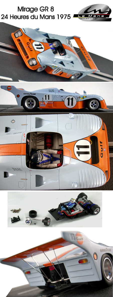 LeMans Miniatures 132045/11M Mirage GR8, Gulf, LeMans winner 1975