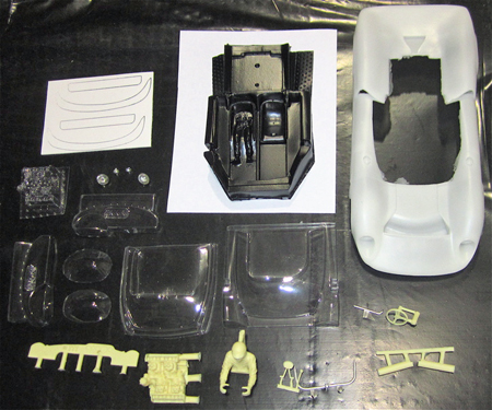 Top Slot 3009 Lola T70 CanAm body kit, 1/24 scale