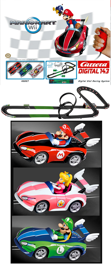 Carrera 40007 Mario Kart Wii race set, Digital 143 - $233.39