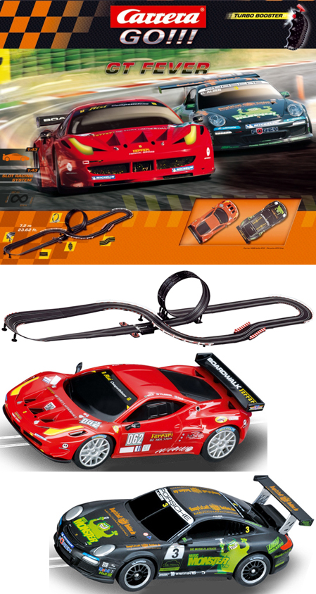Carrera 62275 GT Fever race set, 1/43 scale