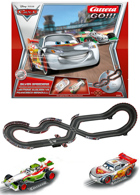 "Carrera 62302 GO! ""Cars"" Silver Speeders race set"