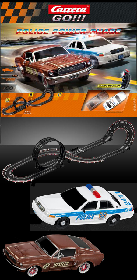 Carrera 62313 Police Power Chase race set, 1/43 scale