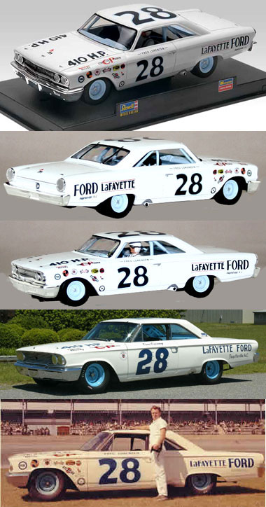Monogram 85-4892 1963 Ford Galaxie, Fred Lorenzen