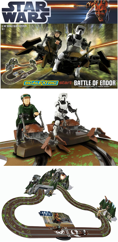 Scalextric C1288T Start Star Wars Battle of Endor race set