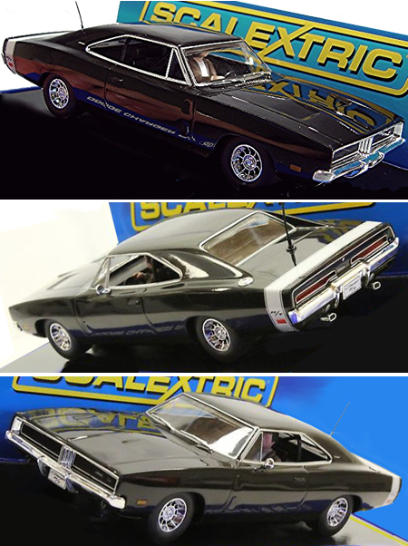 Scalextric C3218 Dodge Charger R/T, black road car