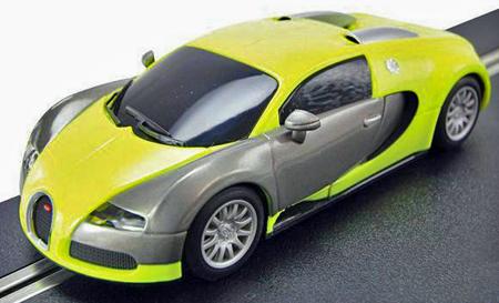 Scalextric C3275 Bugatti Veyron road car, yellow/ silver