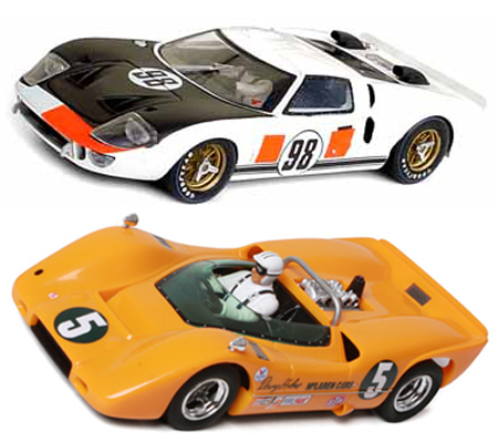 EDSET-16 McLaren M6A & Fly ford GT40 2-car pack