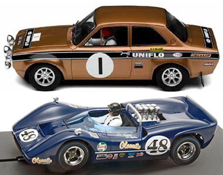 EDSET-21 McLaren M6B & Scalextric Ford Escort 2-car pack