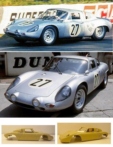 GMC09 Porsche 718 #27, LeMans 1963, RTR.