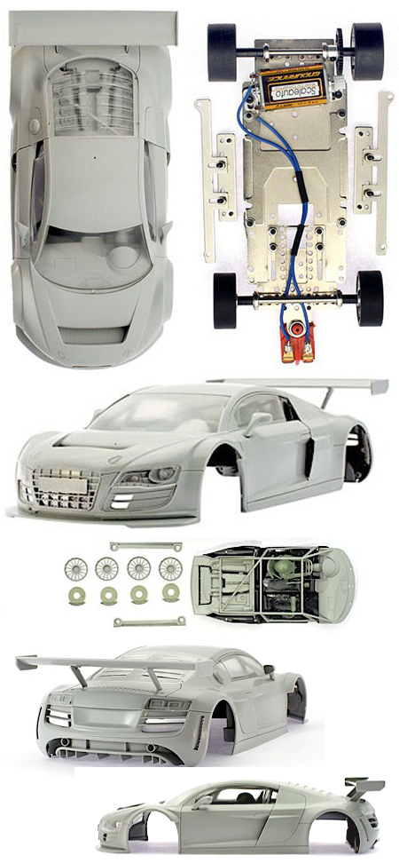 Scale Auto SC7044 Audi R8 LMS all white kit, 1/24 scale