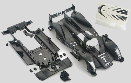 Slot It SICS24LA Audi R18 LMP Painted body with chassis and guide