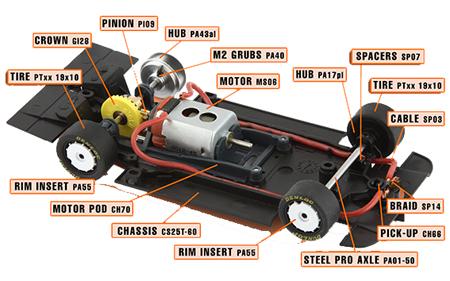 Slot It SICA03G parts