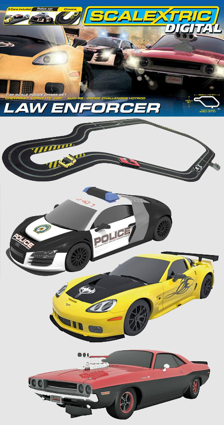 Scalextric C1310T Digital Law Enforcer race set