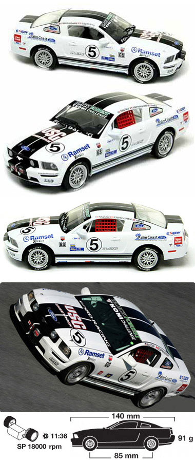 Scalextric C2774 Ford Mustang Koni Challenge 2007