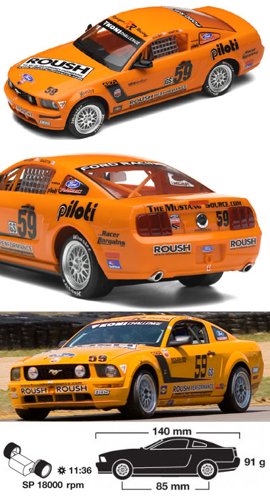 Scalextric C2888 Mustang GT, Jack Roush, Jr. 2007 - $29.95