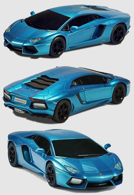 Scalextric C3264 Lamborghini Aventador road car, blue